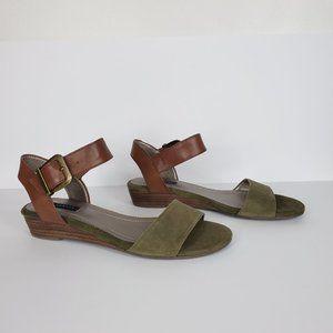 "Array Green Tan Leather ""Sammy"" Sandal , 8M"